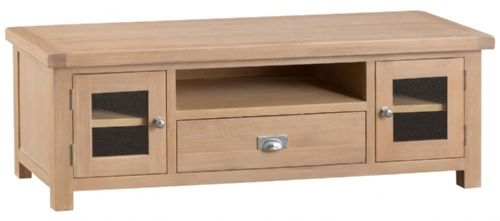 Oxford Oak 2 Door Plasma TV Unit